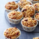 Banana Nut Muffin Recipe with Crumb Topping