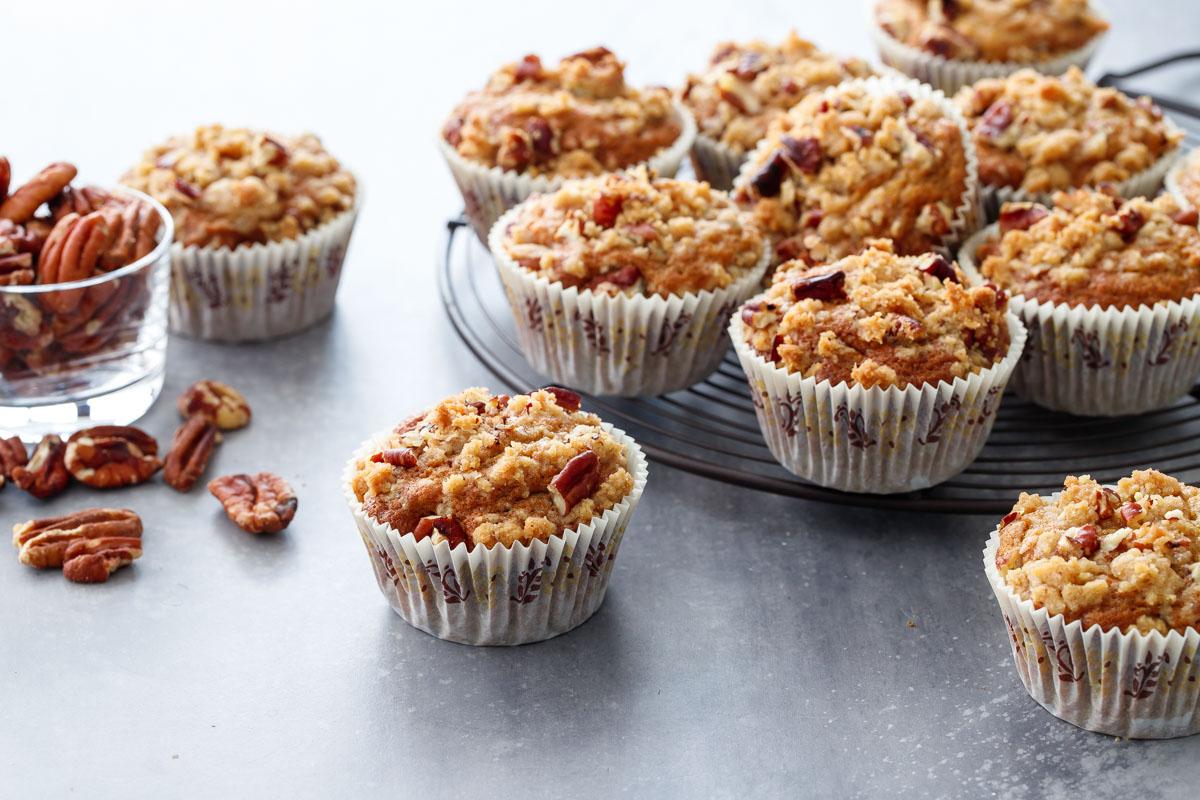 Banana Pecan Crumb Muffins