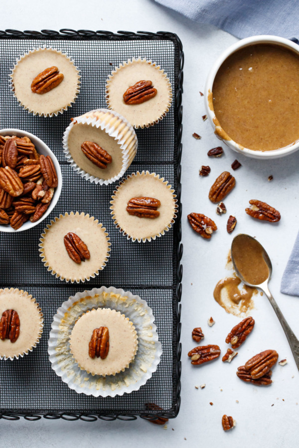 Pecan Praline Mini Cheesecakes are the perfect easy and impressive holiday dessert
