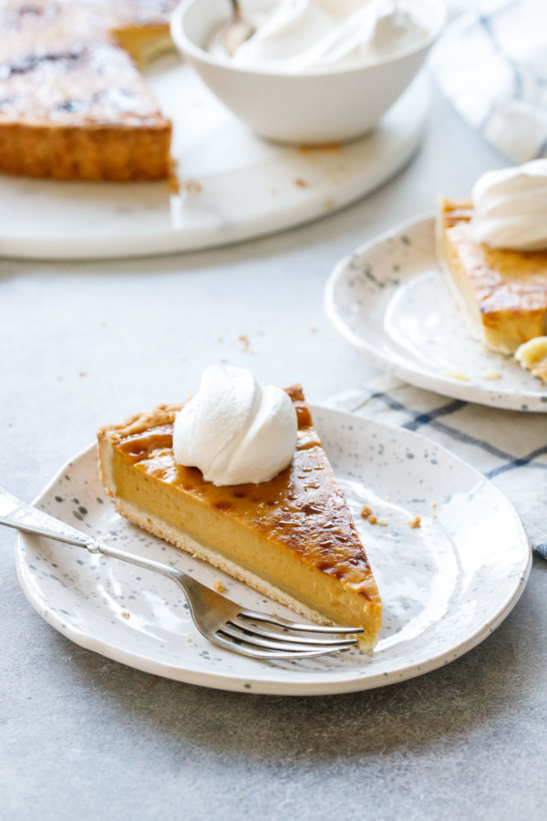 Creamy French Pumpkin Custard Tart, aka Pumpkin Parisian Flan