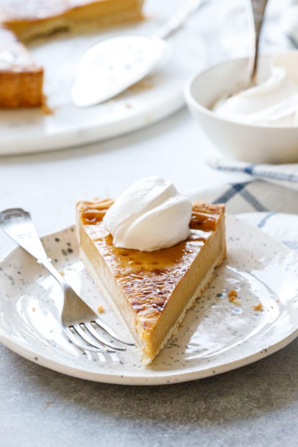 Pumpkin Custard Tart Recipe for Thanksgiving