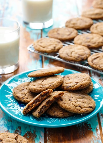 Chewy Molasses meets Chocolate Chip in this unique holiday cookie recipe