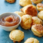 Homemade White Cheddar Gougères with Apple Butter