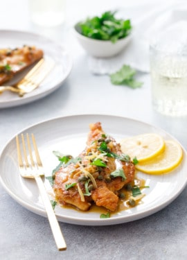 Quick and Easy Chicken Picatta Recipe with Preserved Lemons and Capers