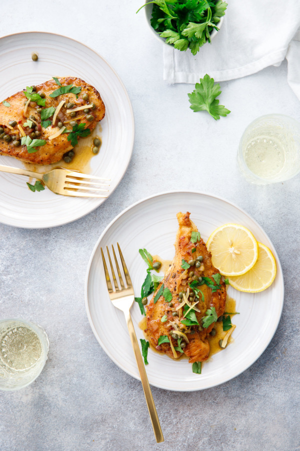 Dinner for Two: Chicken Picatta with Preserved Lemons