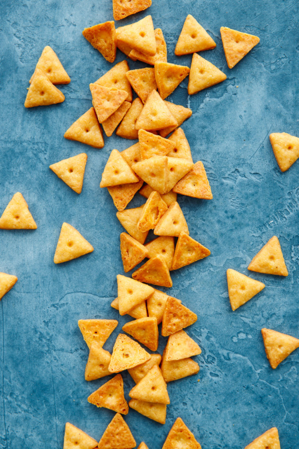 Homemade snack food: Cheez-it crackers!