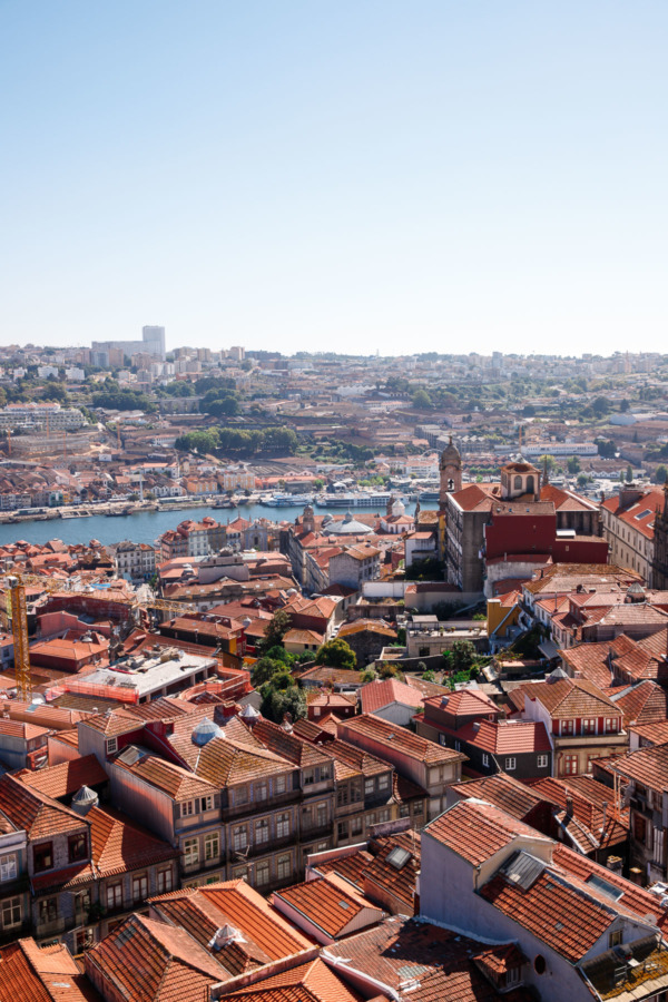 The best view of Porto is at the top of the Clérigos Tower