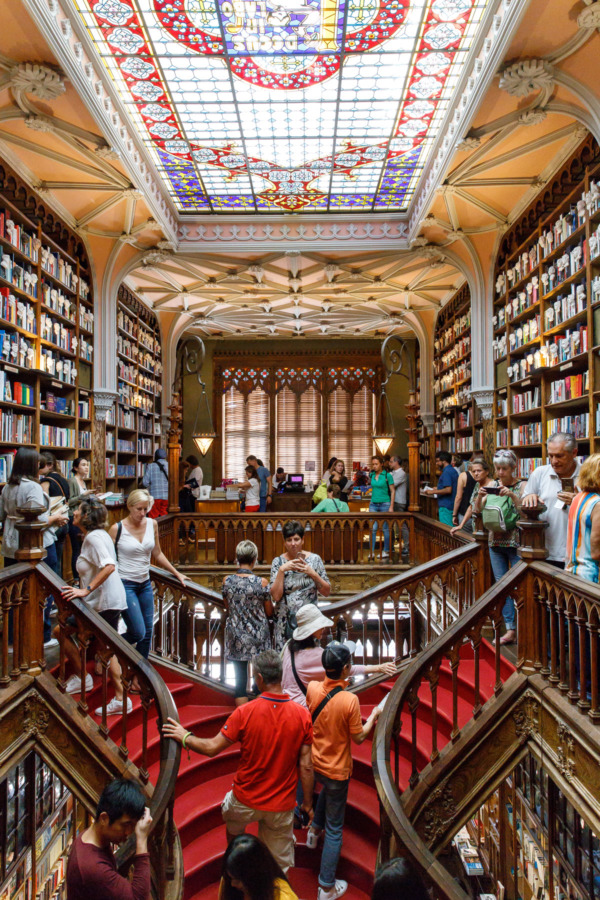 The famous Livraria Lello bookstore in Porto, Portugal