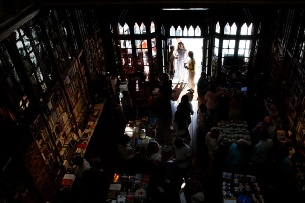 Inside the The famous Livraria Lello bookstore in Porto, Portugal