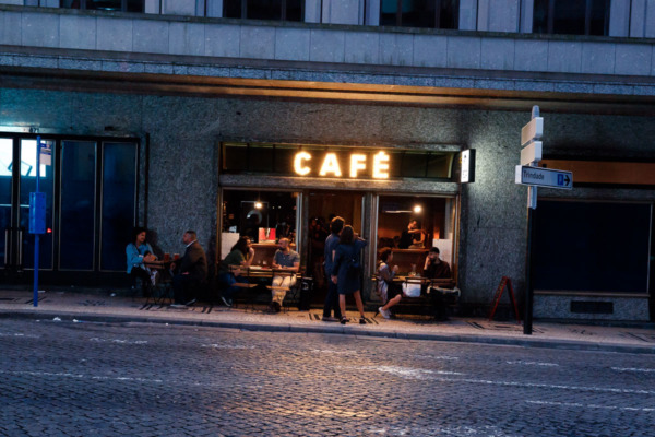 Street cafe at night, Porto, Portugal