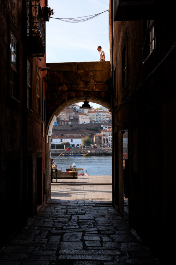 Looking out towards the Duoro River, Porto, Portugal