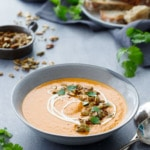 Creamy Butternut Squash Soup Recipe with Orange and Saffron