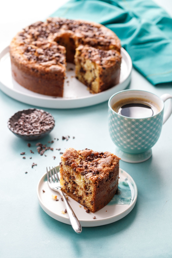 Sour Cream Chocolate Chip Coffee Cake Recipe