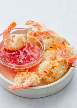 Oven-fried Coconut Shrimp with sweet chili dipping sauce