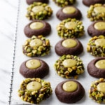 Chocolate Pistachio Cream Thumbprint Recipe