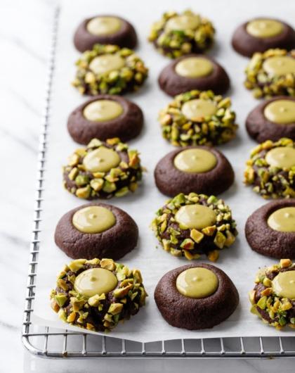 Chocolate Pistachio Cream Thumbprint Recipe