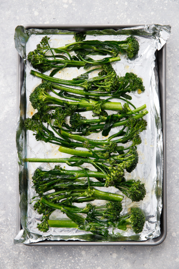 Before baking: Crispy Oven-Roasted Broccolini