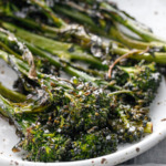 Crispy Oven-Roasted Broccolini finished with flake sea salt
