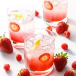 Strawberry Elderflower Shrub Mocktail recipe
