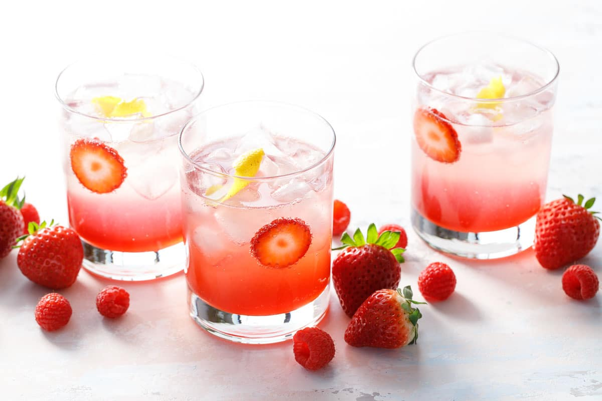 Fruit & Vinegar Shrub Mocktails