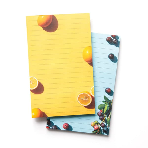 Fresh Fruit List Notepads - Set of 2