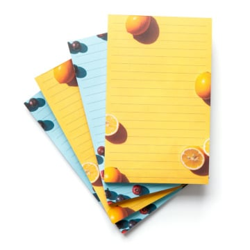 Fresh Fruit List Notepads - Set of 4