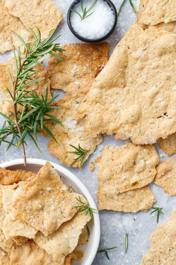 Olive Oil Sourdough Crackers with Herbs de Provence