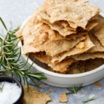 Homemade sourdough cracker recipe with olive oil and herbs