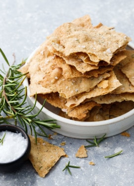 Sourdough Crackers with Olive Oil & Herbs