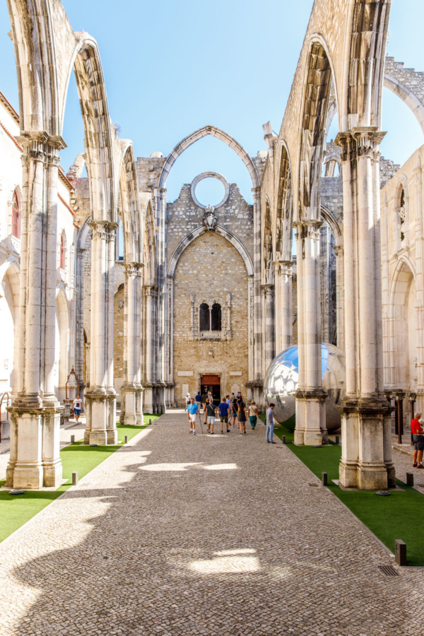 The Carmo convent in Lisbon, Portugal