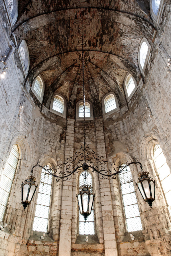 Inside the Carmo, Convent in Lisbon, Portugal
