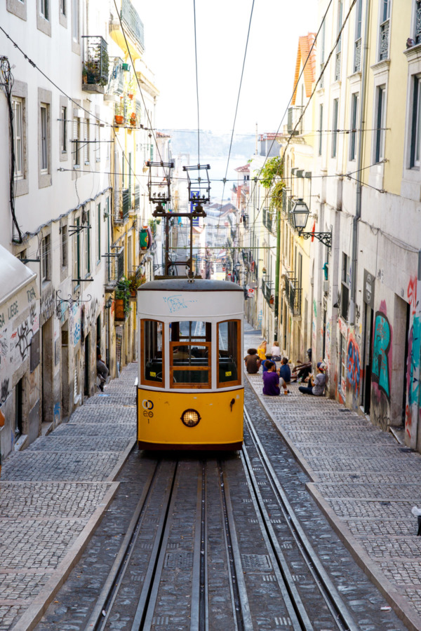 Ascensor da Bica funicular in Lisbon, Portugal