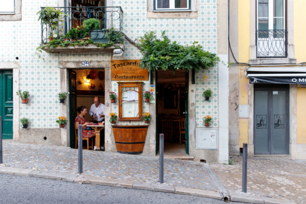 Quaint restaurant in Lisbon, Portugal