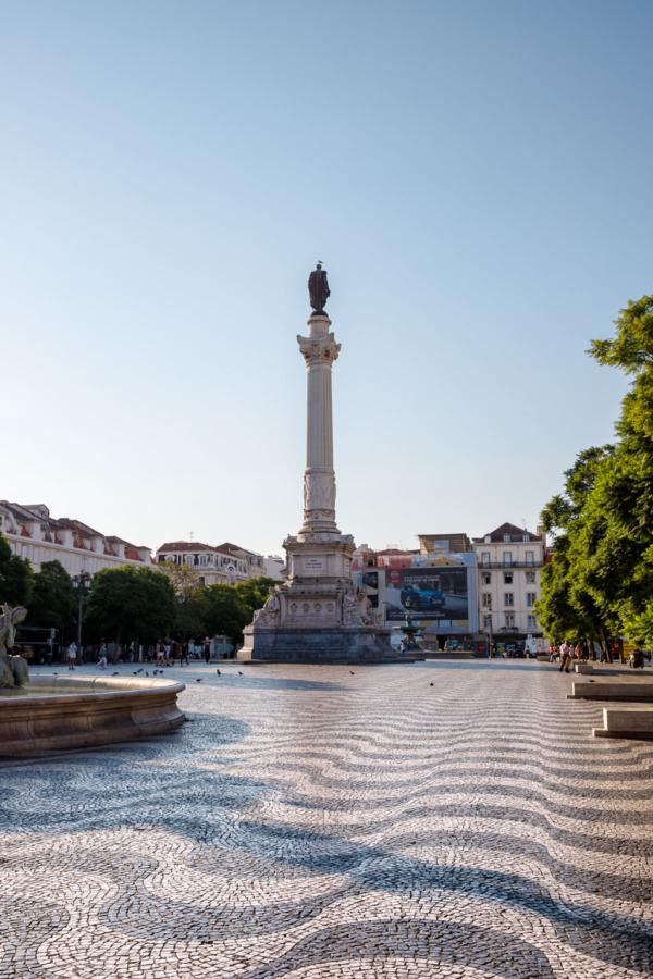 Praça Dom Pedro IV square in Lisbon, Portugal