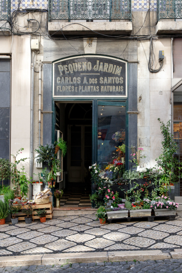 Pretty little garden store in the Chiado district of Lisbon, Portugal