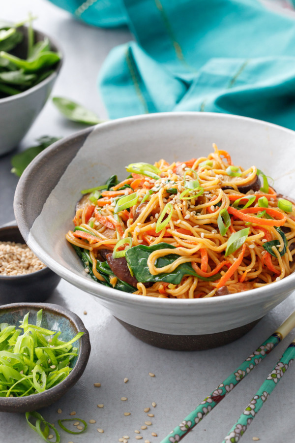 Sesame Stir Fry Noodles Love And Olive Oil