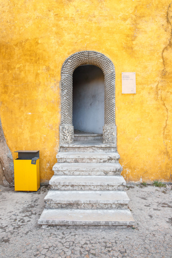 Yellow doorway, Pena Palace, Sintra, Portugal