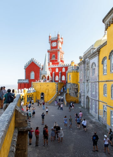 The main terrace of the Pena Palace in Sintra, Portugal