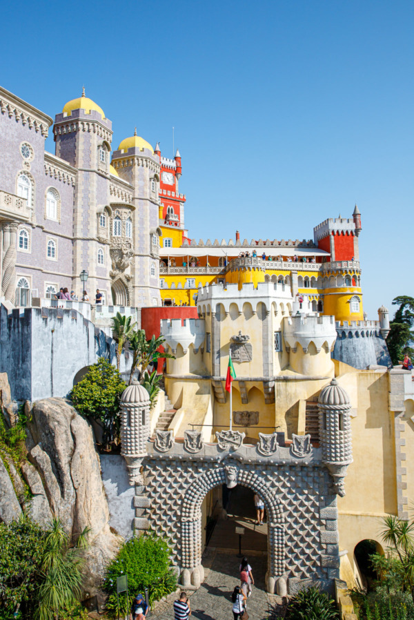 The outside of the Pena Palace Sintra, Portugal