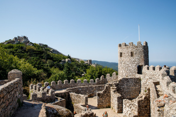 The castle of the Moors in Sintra, Portugal
