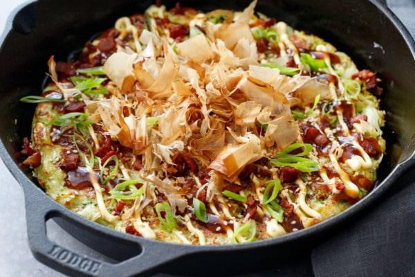 Cabbage & Zucchini Okonomiyaki