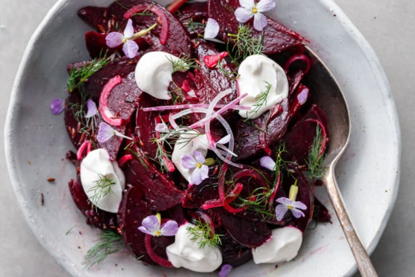 Cumin-Spiced Beet Salad with Yogurt and Preserved Lemon