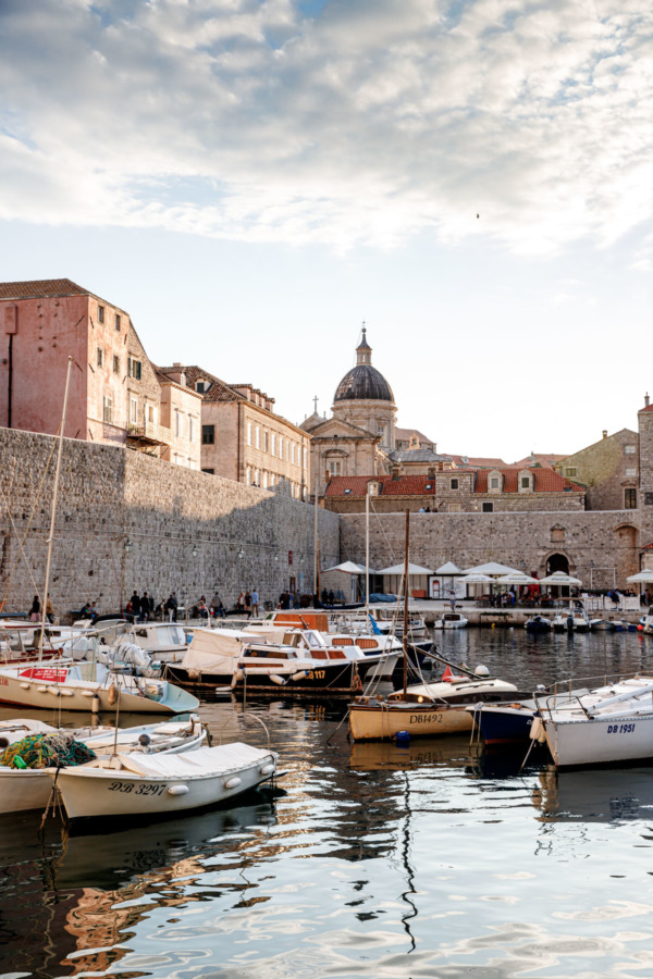 The harbor of Dubrovnik, Croatia