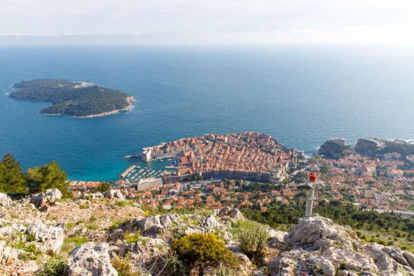 Dubrovnik, Croatia from the top of Mount Srd