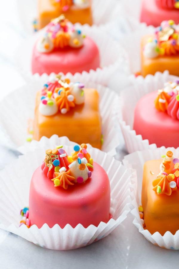 Funfetti Fours (Birthday Cake Petit Fours)