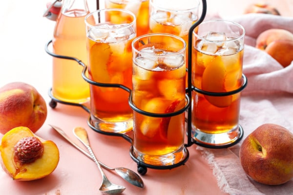 Cold Brew Peach Iced Tea