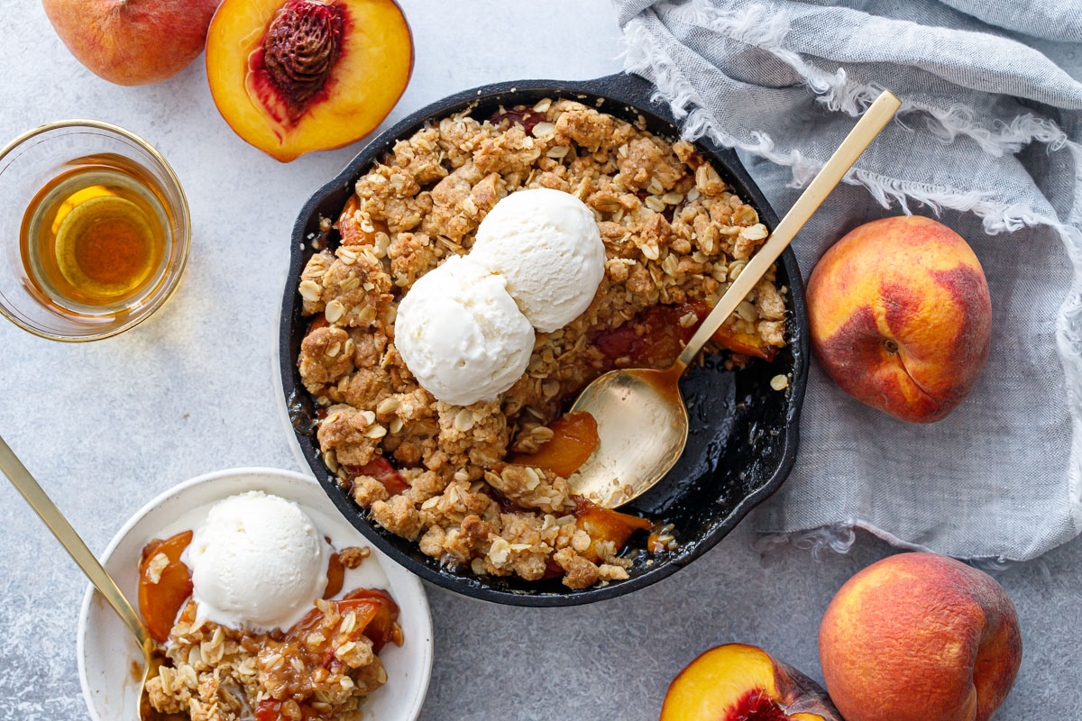 Skillet Bourbon Peach Crisp