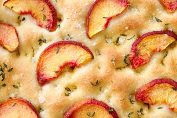 Peach & Fresh Herb Focaccia Bread