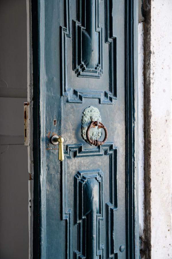 Turquoise door, Dubrovnik, Croatia