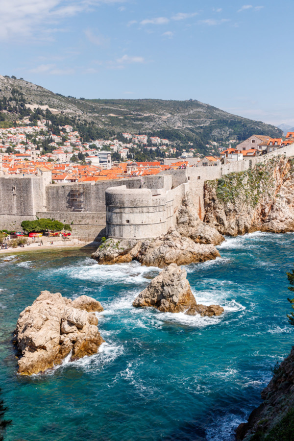 View of Old Town Dubrovnik, Croatia from Fort Lovrijenac